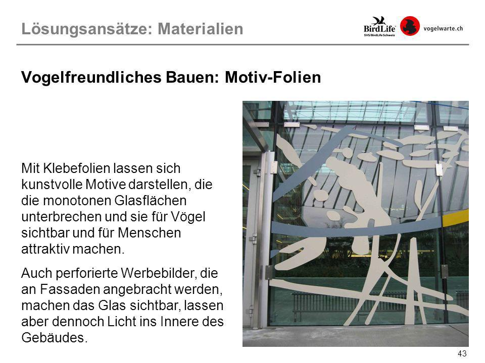 Vogelfreundliches Bauen: Motiv-Folien