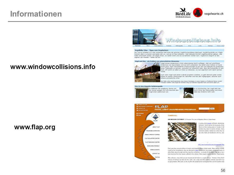 Informationen www.windowcollisions.info www.flap.org