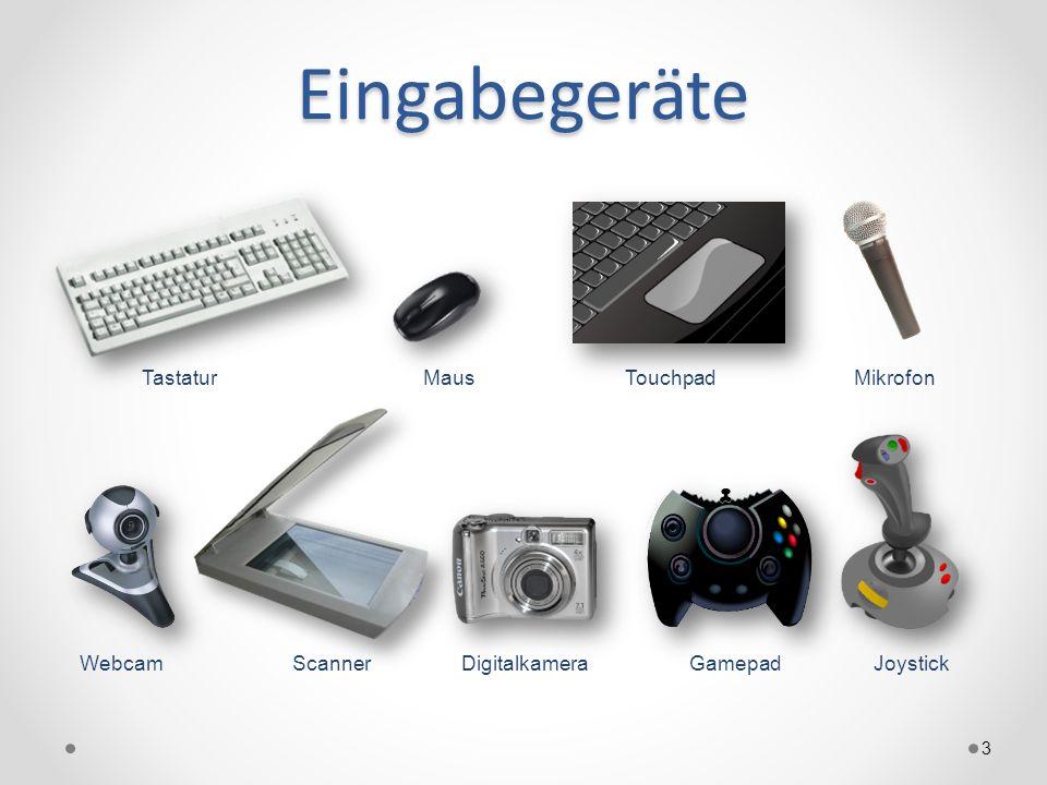 Eingabegeräte Tastatur Maus Touchpad Mikrofon Webcam Scanner