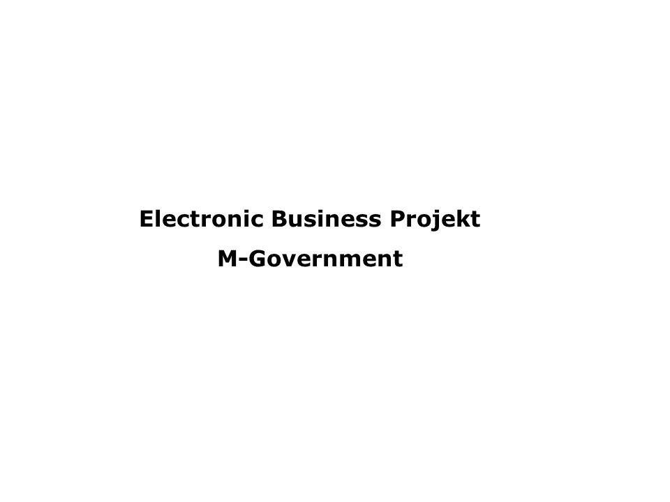 Electronic Business Projekt