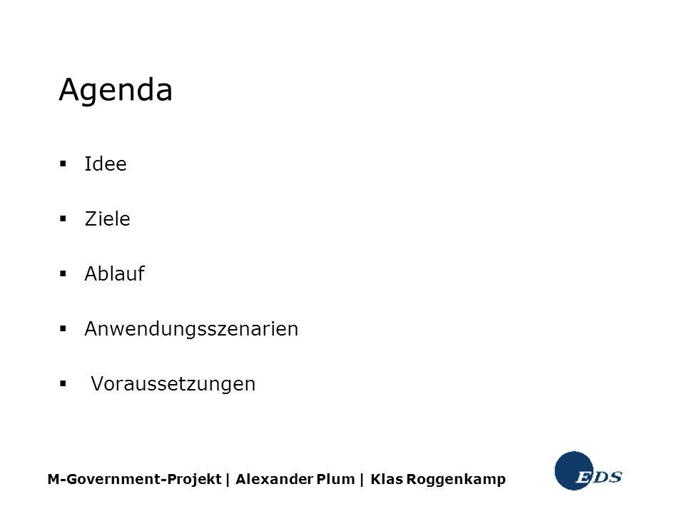 Agenda Idee Ziele Ablauf Anwendungsszenarien Voraussetzungen