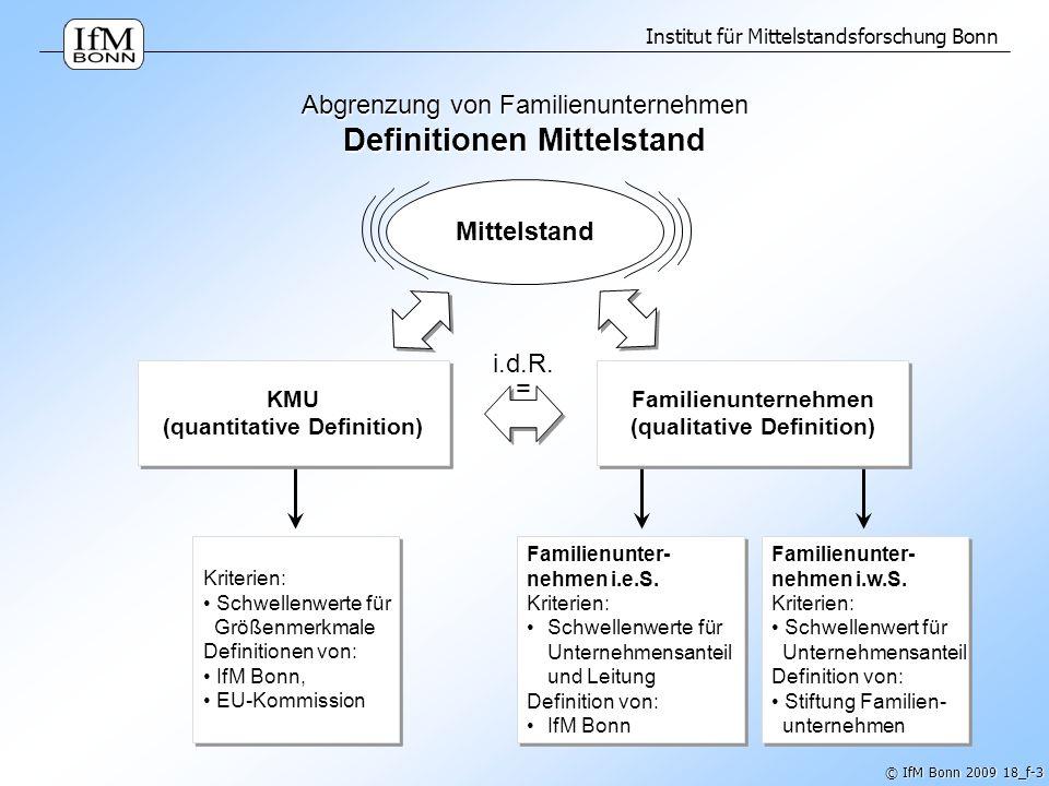Abgrenzung von Familienunternehmen Definitionen Mittelstand