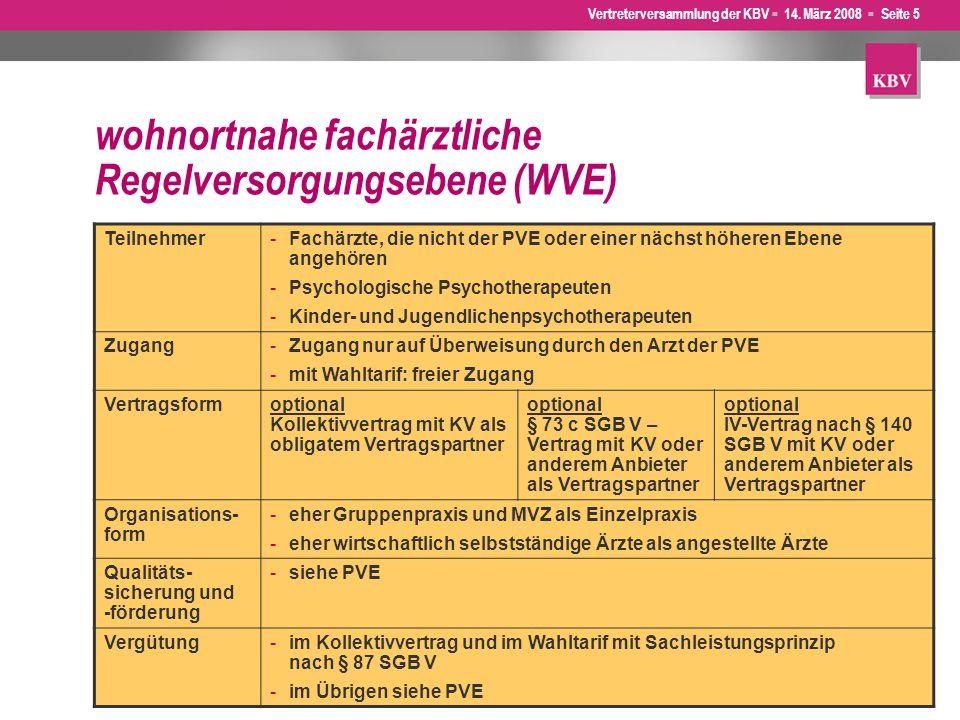 wohnortnahe fachärztliche Regelversorgungsebene (WVE)