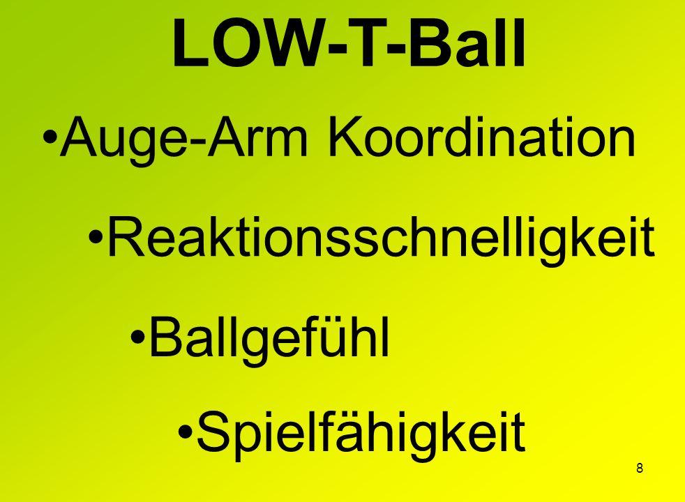 LOW-T-Ball Auge-Arm Koordination Reaktionsschnelligkeit Ballgefühl