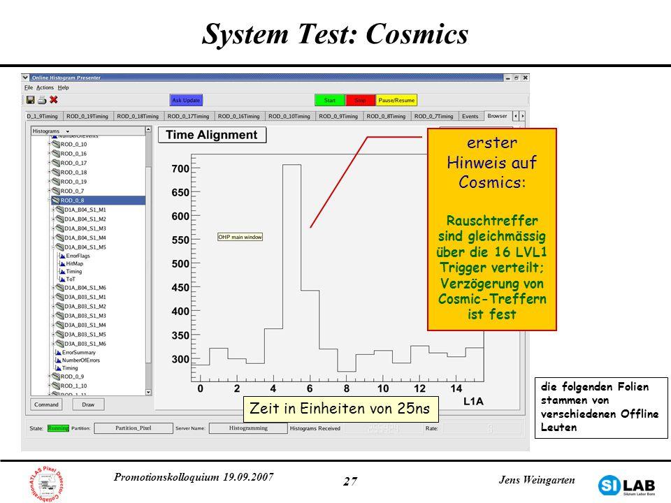 erster Hinweis auf Cosmics: