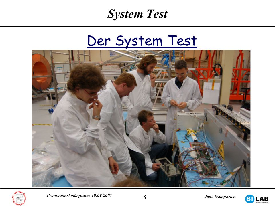 Der System Test System Test Promotionskolloquium 19.09.2007