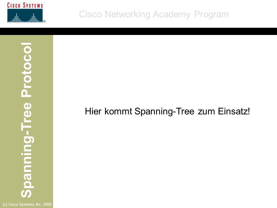 Hier kommt Spanning-Tree zum Einsatz!