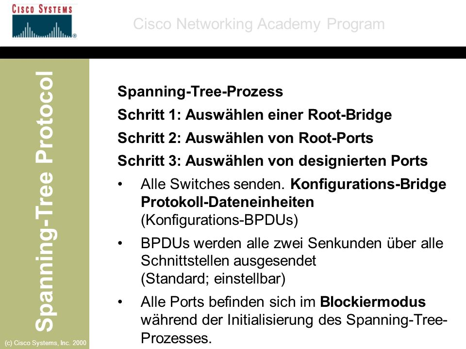 Spanning-Tree-Prozess