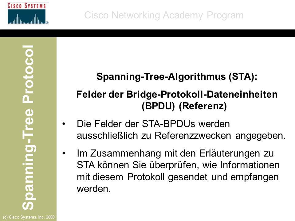 Spanning-Tree-Algorithmus (STA):