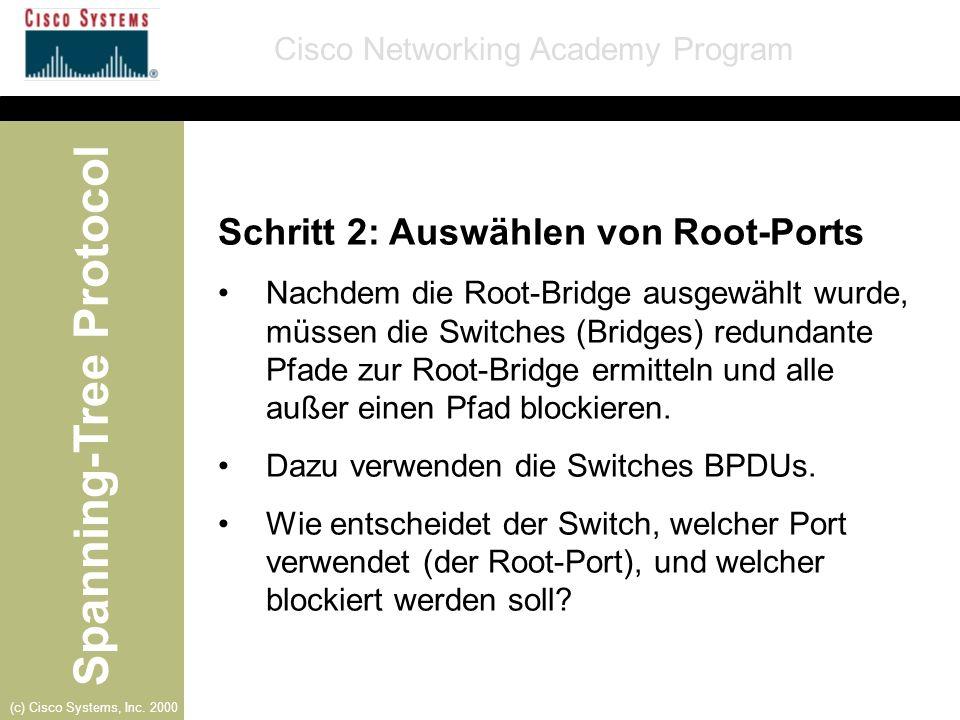 Schritt 2: Auswählen von Root-Ports