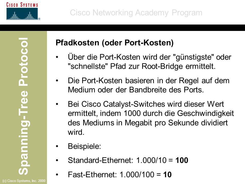 Pfadkosten (oder Port-Kosten)