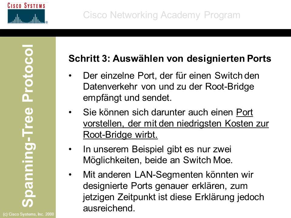 Schritt 3: Auswählen von designierten Ports
