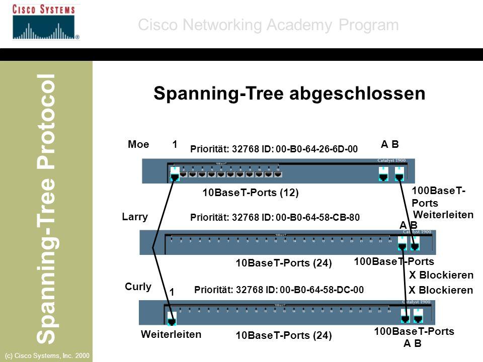 Spanning-Tree abgeschlossen