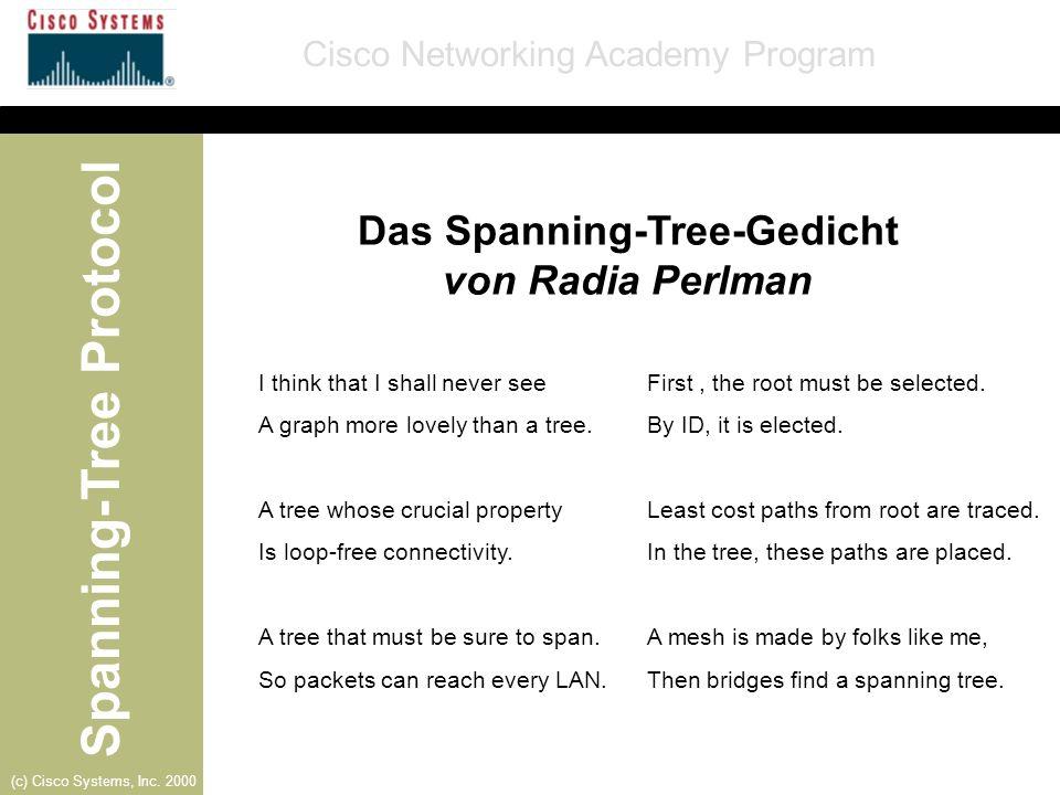 Das Spanning-Tree-Gedicht von Radia Perlman
