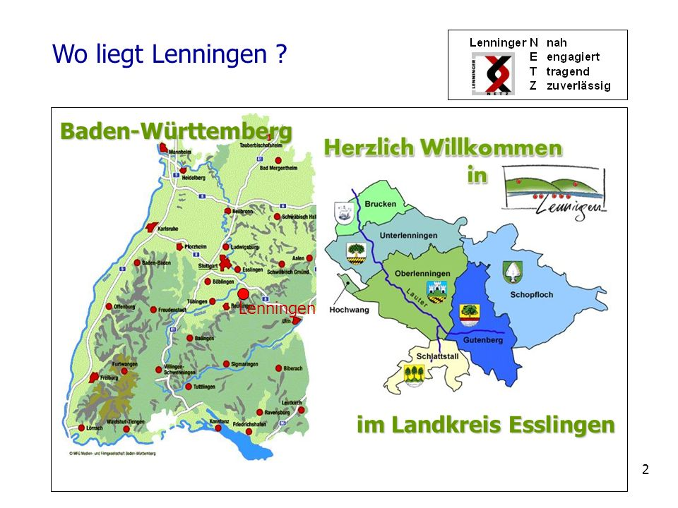 Wo liegt Lenningen Baden-Württemberg im Landkreis Esslingen