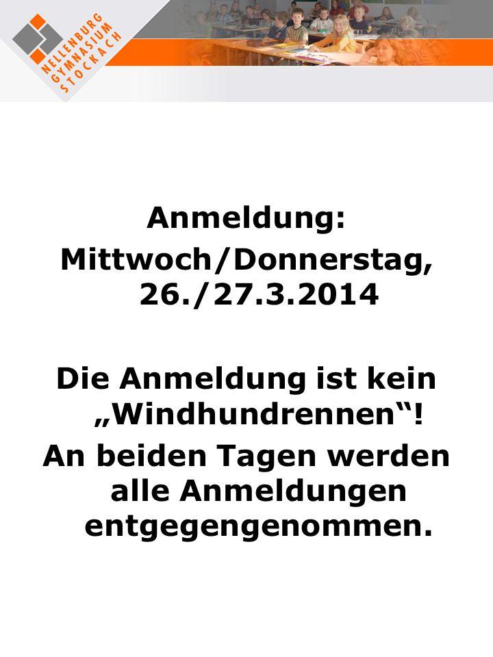 Mittwoch/Donnerstag, 26./27.3.2014