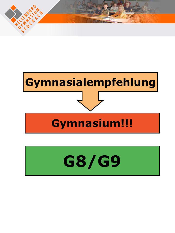 Gymnasialempfehlung Gymnasium!!! G8/G9