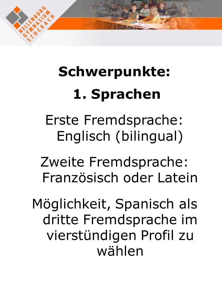 Schwerpunkte: 1. Sprachen