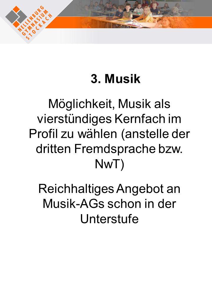 Reichhaltiges Angebot an Musik-AGs schon in der Unterstufe