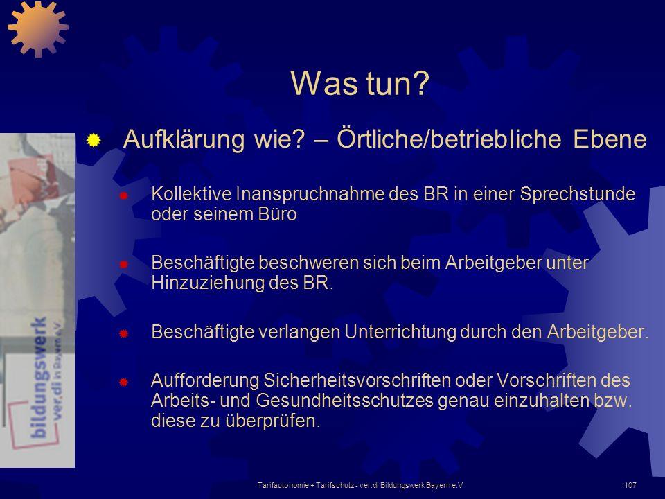 Tarifautonomie + Tarifschutz - ver.di Bildungswerk Bayern e.V