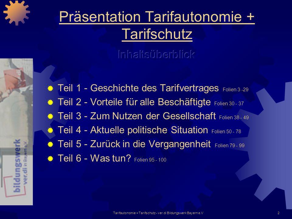 Präsentation Tarifautonomie + Tarifschutz