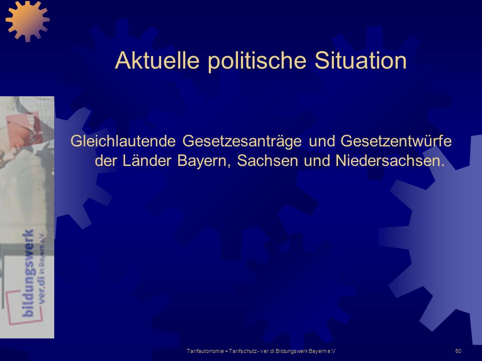 Aktuelle politische Situation