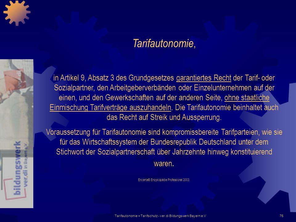 Tarifautonomie,
