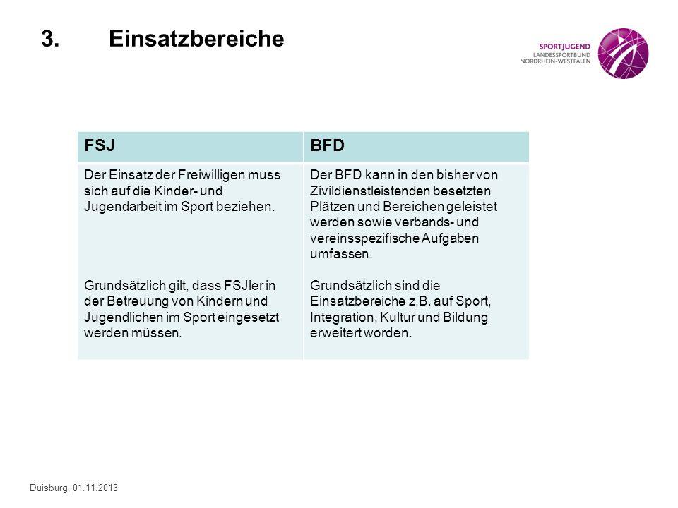 3. Einsatzbereiche FSJ BFD