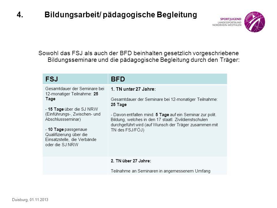 4. Bildungsarbeit/ pädagogische Begleitung