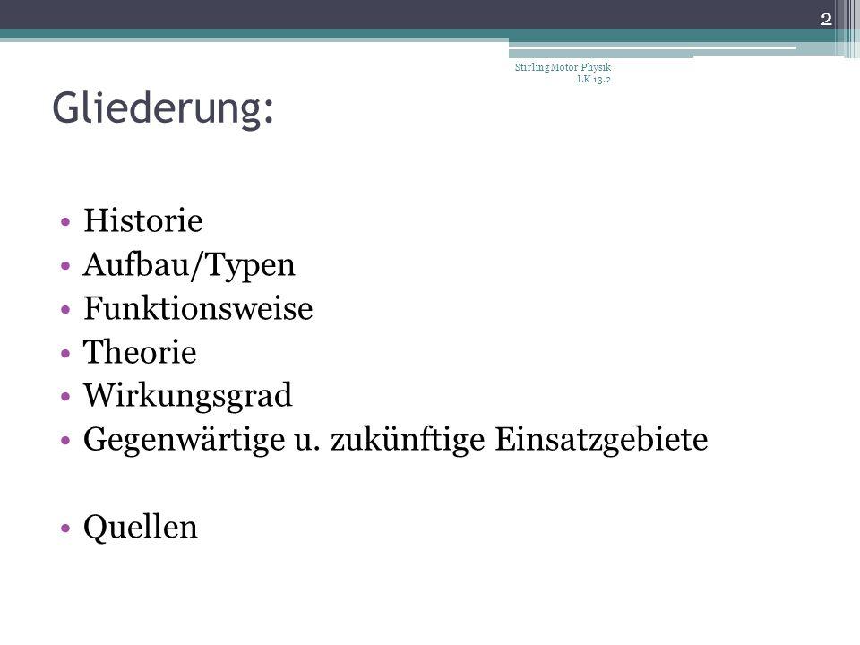 Gliederung: Historie Aufbau/Typen Funktionsweise Theorie Wirkungsgrad