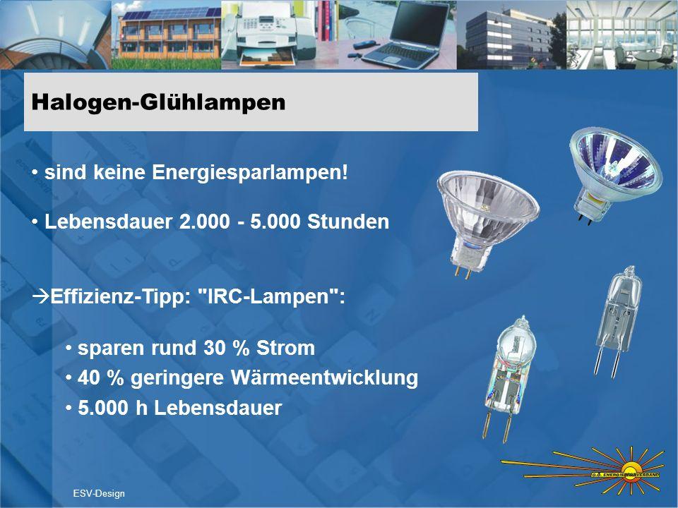 Halogen-Glühlampen sind keine Energiesparlampen!