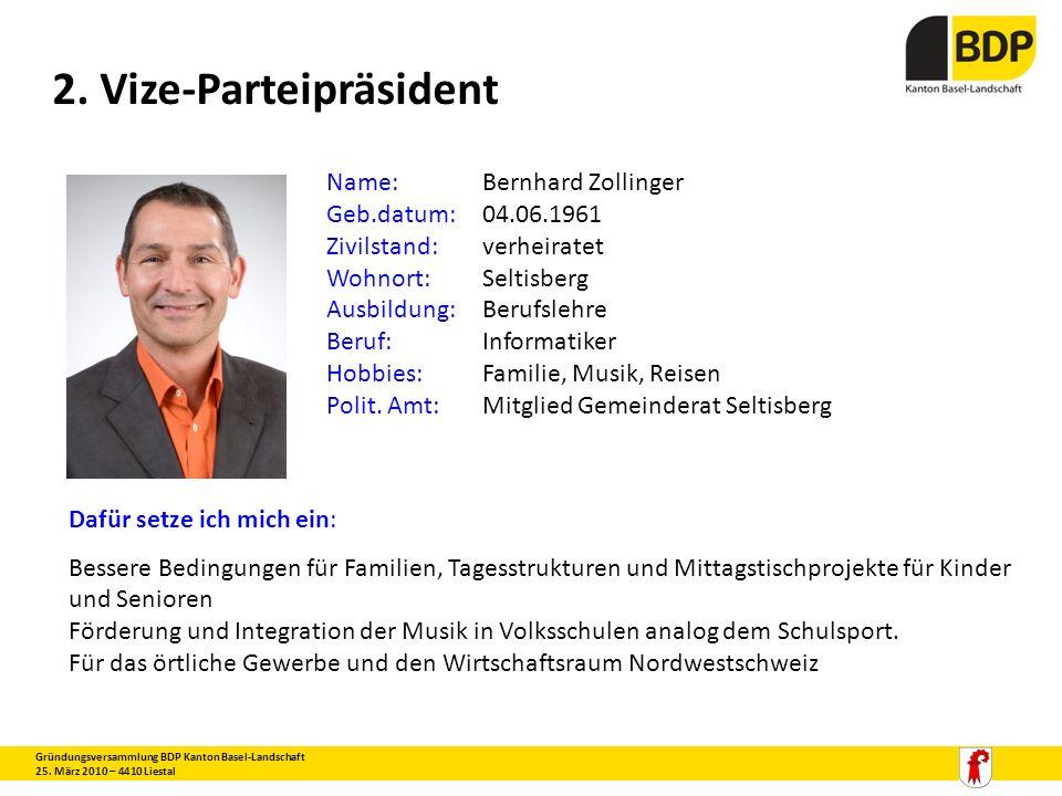 2. Vize-Parteipräsident