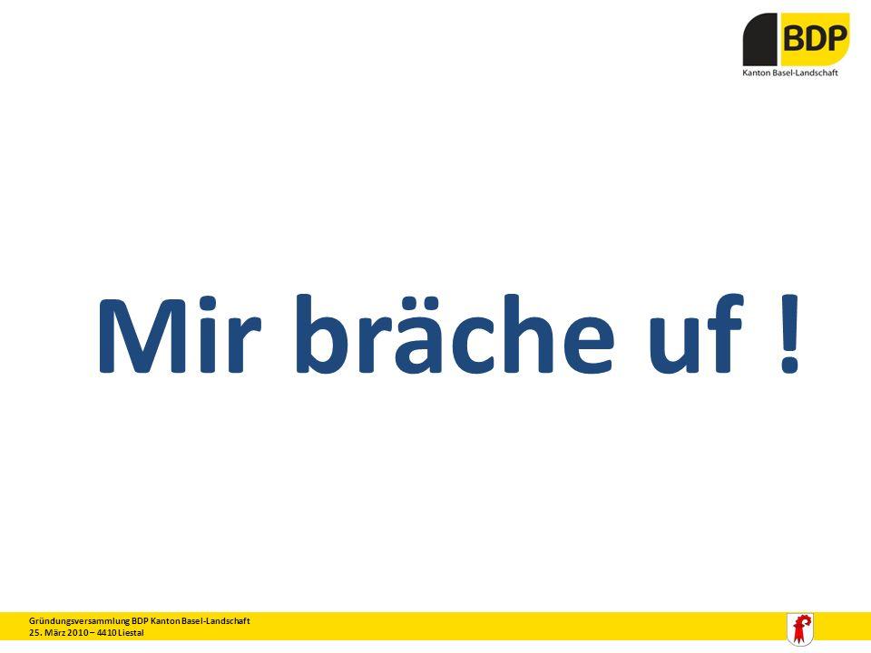 Mir bräche uf ! 3 Gründungsversammlung BDP Kanton Basel-Landschaft