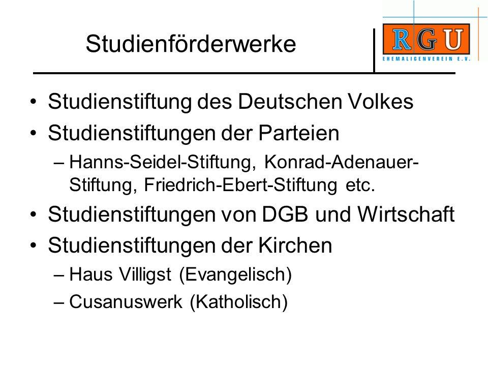 Studienförderwerke Studienstiftung des Deutschen Volkes