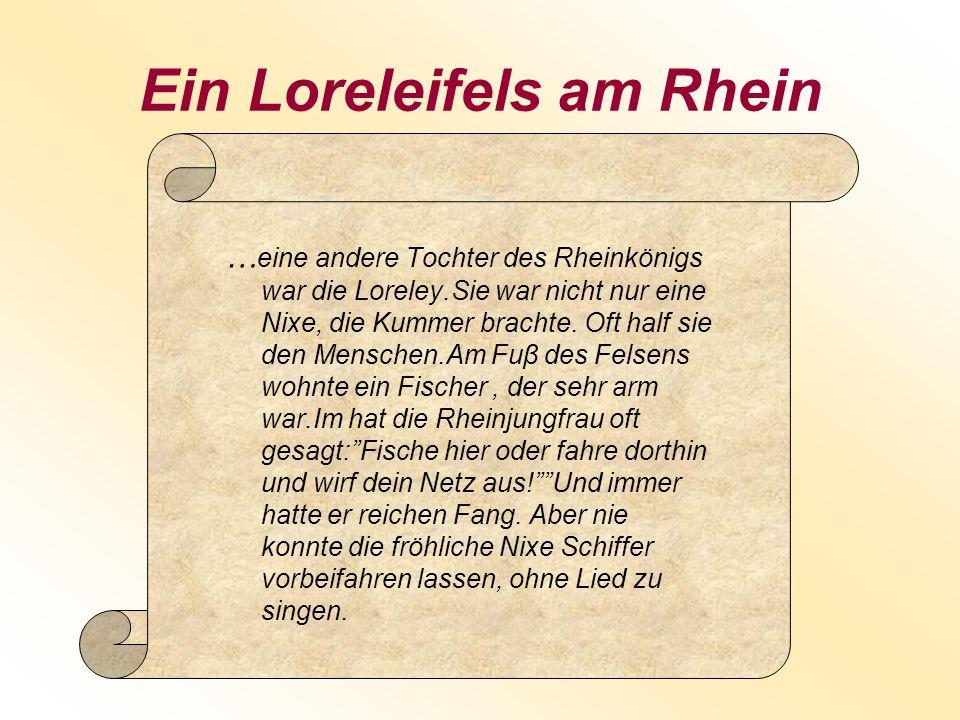 Ein Loreleifels am Rhein