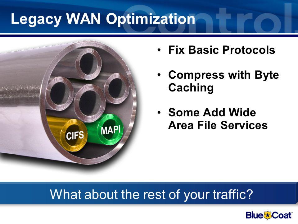 Legacy WAN Optimization