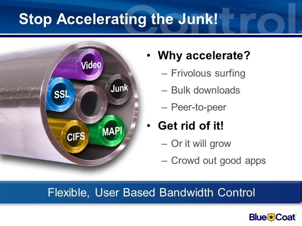 Stop Accelerating the Junk!