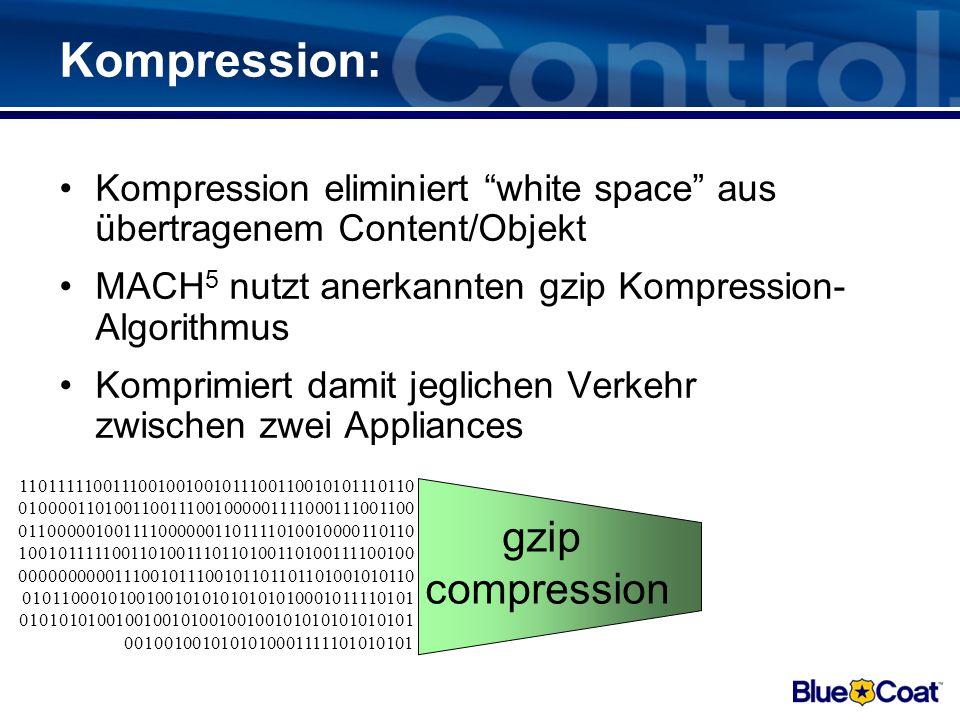Kompression: gzip compression