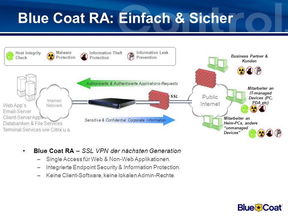 Blue Coat RA: Einfach & Sicher