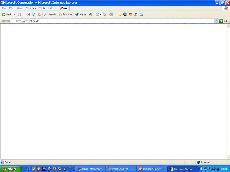 10:46 Microsoft Corporation – Microsoft Internet Explorer. http://my.yahoo.de.
