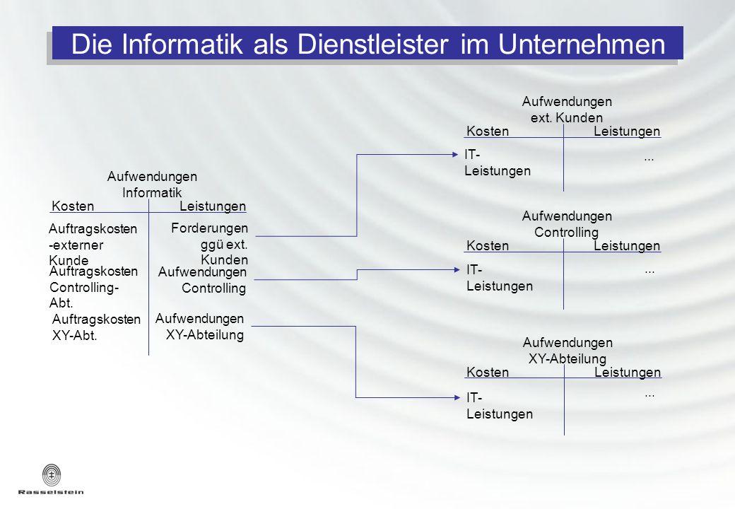 Die Informatik als Dienstleister im Unternehmen