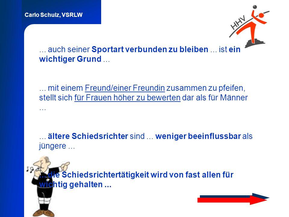 ... auch seiner Sportart verbunden zu bleiben ... ist ein wichtiger Grund ...