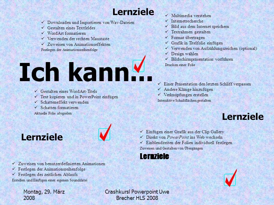 Crashkursl Powerpoint Uwe Brecher HLS 2008