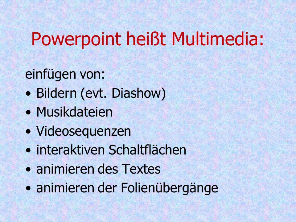 Powerpoint heißt Multimedia: