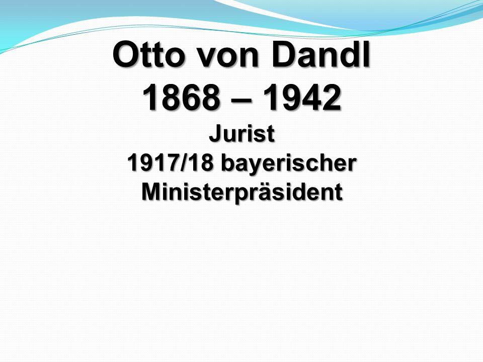 1917/18 bayerischer Ministerpräsident