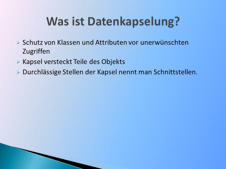 Was ist Datenkapselung