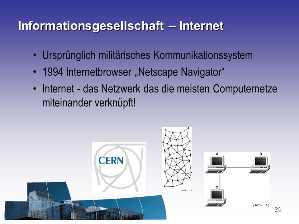 Informationsgesellschaft – Internet