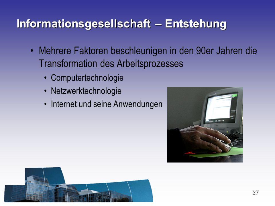 Informationsgesellschaft – Entstehung
