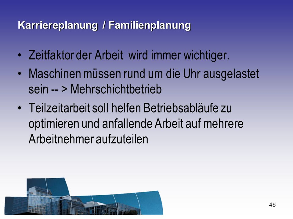 Karriereplanung / Familienplanung