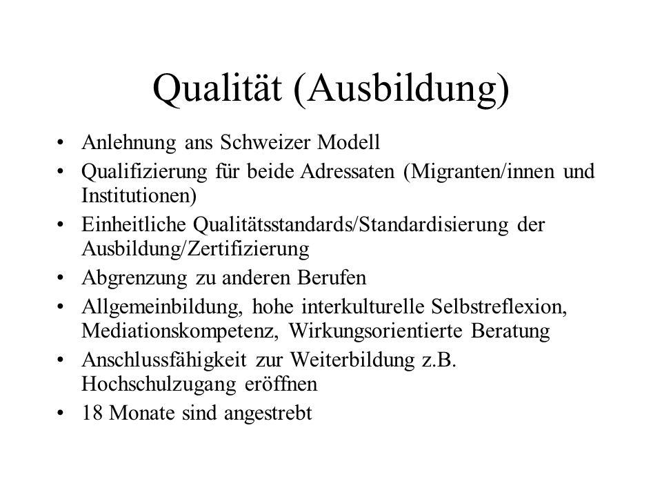 Qualität (Ausbildung)
